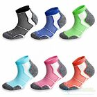 3 Pairs More Mile Cushioned Sports Running Ankle Socks Mens Ladies Womens Pack