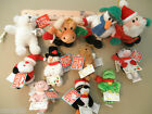 Gund Plush Ornaments Santas, Cows,Pigs, Snowmen, Bears, Frogs, Etc. New with Tag