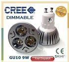 CREE GU10 9W Dimmable LED Highly Efficient Bright Downlight Spot Light Lamp Bulb