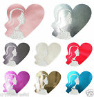 FABRIC CRYSTAL HEART GIRL IRON-ON DIAMANTE BLING FUN CRAFT TSHIRT GARMENT PATCH