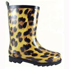 NEW! 2747-C Smoky Mountain Kids Rubber Boots - Leopard Print