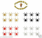 1inch GLITTER SPIDER STICKER SELF ADHESIVE CARD MAKING DIY CRAFT EMBELLISHMENT