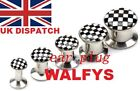 Chequered Ear Plug Tunnel Taper Stretcher NEW Two Tone SKA  checkered 316L Steel