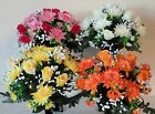 ROSEBUD & MUM BUNCH - CHOICE 4 COLOURS - ARTIFICIAL FLOWERS/WEDDING/GRAVE