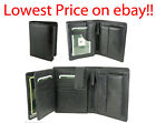 VISCONTI Soft Leather Organiser Coin Wallet in Black/Brown HT11 with Gift Box
