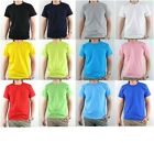 Plain Blank Solid Short Sleeve CrewNeck Pure Cotton T-Shirt Basic Top Tee U