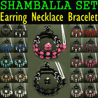 Special Set  Matching Earrings Necklace Bracelet Shamballa Czech Crystal UK Sets