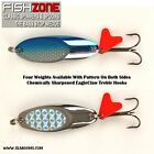 Bass Stops Aka Wedges With Pattern Surface Both Sides Top Bass Fishing Lures