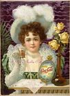 Vintage Repro Coca Cola Ad On Colorfast Treated Cotton Fabric Block 5x7 or 8x10 $15.0  on eBay
