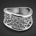 Genuine Solid Sterling Silver Wavy Mesh Ring Size 6 7 8 9 10