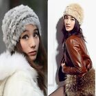 New Protect Ear Style Real Rabbit Fur And Knitted Warm Hat