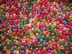 1000 Glitter Pony Beads,Mixed or Single colour,FOR DUMMY CLIPS,HAIR BRADING