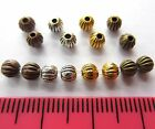 100 x tibetan silver style round melon spacer beads 4mm MB11 choose colour