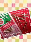SINGER DOMESTIC SEWING MACHINE NEEDLES,PACK OF 10,SIZE,10,12,14,16 &18,FREE POST