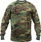 Tactical Camo Long Sleeve T-Shirt Military Camouflage Crew Tee Undershirt Base фото