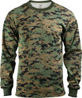 Camouflage Long Sleeve T-Shirt Tactical Military Camo Tee