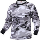 Tactical Camo Long Sleeve T-Shirt Military Camouflage Crew Tee Undershirt Base
