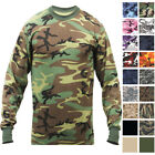 Camo Long Sleeve T-Shirt Tactical Military Camouflage Crew Tee Undershirt Base