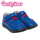 Boys Infant Toddler - Royal Blue - Childrens Leather Squeaky Shoes - Wide Fit