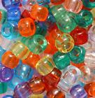 Transparent Pony Beads 100/500,Mixed or Single colour,FOR DUMMY CLIPS,BRADING