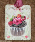 Hang Tags  CHOCOLATE CUPCAKE ROSE TAGS #434  Gift Tags