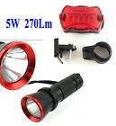 5w LED Bike Bicycle Rear Lamp Torch Front Head Light 4 Colors