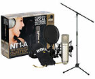 RODE NT1-A Microphone Package with Tripod Base Mic Boom Stand