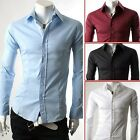 Promotion!Slim Fit Casual Long Sleeve Men's Formal/Business Dress Shirt Tops NEW