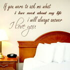 If You Asked Me - Romantic Wall Quote / Large Vinyl Love Quote Transfer DAQ9