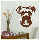 Boxer Dog Wall Stickers / Removable Vinyl / Large Dog Wall Transfers DO7