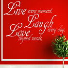 Live Laugh Love - Interior Wall Quote / Huge Removable Wall Quote Sticker QU35