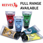 Reeves Artist Acrylic Paint 75ml Tubes | Full Range of Colours | 2/2