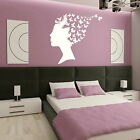 Butterfly Hair Girls Wall Transfer / Bedroom Art Decor / Girls Wall Sticker X80