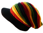 Rasta Reggae Jamaica Knit Knitted Cap Hat Slouch Beanie Extra Long 4 Colours