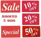 SALE Message Sign 50% OFF Store signs 20% OFF Plastic Message Sign 11