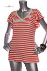 New  STYLE & CO. Women Clear Sequins Ruffle Top Coral  Orange Beige S/M/L/XL