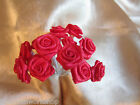 Wedding 36 Stems Plain Ribbon Roses Flowers Bridal - All Colours