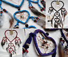 DREAM CATCHER ~ NATIVE AMERICAN ~ SUEDE HEART- LARGE 17cm