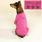 Casual Canine Pink Spicy Girl Rhinestone Dog Tee Shirt T-Shirt XS L XL
