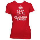 KEEP CALM AND WALK THE JACK RUSSELL TERRIER LADIES MENS PET DOG T SHIRT #265