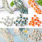 20/100 Faceted Glass Crystal Spacer Hexagon Bead Jewelry DIY Multicolor 11x12mm