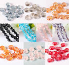 Whosale 70/350pcs Faceted Glass Crystal Spacers Beads Jewelry DIY 8mm 10 Colors