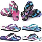 LADIES URBAN BEACH FLIP FLOPS GIRLS RETRO FLAT TOE POST MULES SANDALS SHOES SIZE