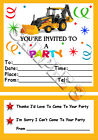 10 DIGGER PARTY INVITATIONS, INVITES + ENVELOPES - Ref 2C