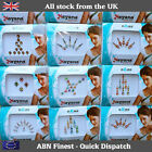 Indian Stick on Crystal Silver Diamante Bridal Head Wedding Bindi Tikka Tattoo