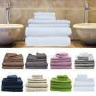 6 Pc's Bath Towels Set Egyptian Cotton Premium Quality 620 gsm Multi-Colours