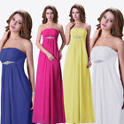 HOT Sexy Strapless Ladies Cocktail Gowns Prom Formal Evening Party Long Dresses