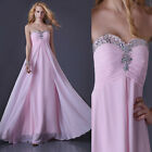 Sweetheart Beaded Bridesmaid Cocktail Formal Party Ball Gowns Prom Long Dresses