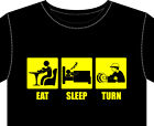 T Shirt Mens new eat sleep funny gift TURN wood turning lathe chisel chuck wax