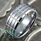 9mm Tungsten Ring Solid Men's Wedding Band Tire Titanium Color Jewelry Size 6-15